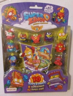 Superzings Rivals Of Kaboom - Series 5 - 9 superzings  + 1 Super rare