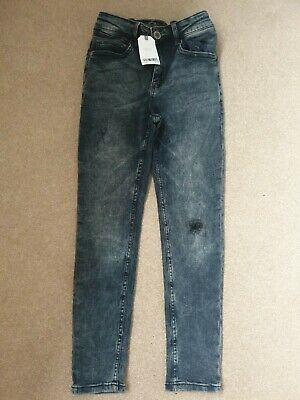 Brand New Next Skinny Jeans Age 12 Years Boys 12 blue black ripped