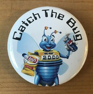 "WalMart ""Catch The Bug"" Lays & Pepsi 2000 Advertising Pin"