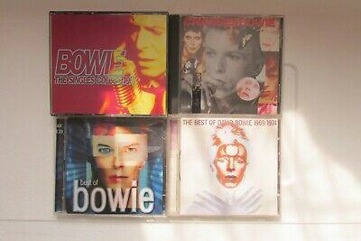 David Bowie - 4 CD Bundle 7 The Singles Collections, Best of  + 2.Used,vgc.