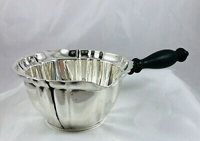 Vintage Gorham Sterling Silver&Wood Handle Chippendale Double Spout Gravy Boat