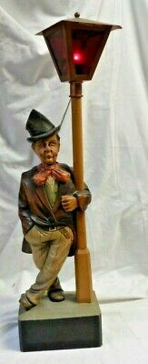 BLACK FOREST KARL GRIESBAUM AUTOMATION HAND CARVED HOBO WHISTLER Works!