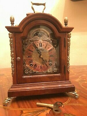 Antique Dutch Warmink Wuba John Thomas Warmink London Mantel Shelf Clock