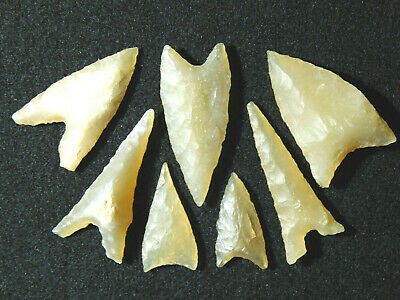 A Lot of Ancient AAA North African Tidikelt Arrowheads Points or Artifacts! 8.8