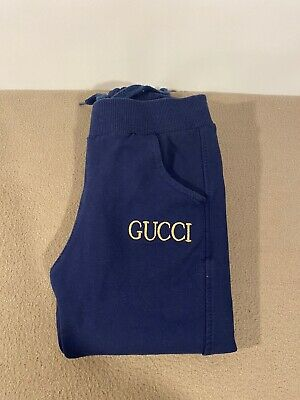Gucci Baby Girl Kids Blue Colour Joggers Trouser Age 2 Years