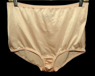 Vintage Vassarette 3XL Pink Shiny Second 2nd Skin Panties Granny Shapewear