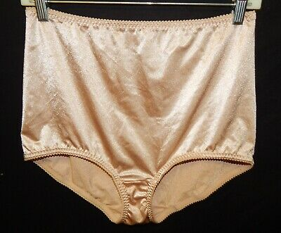 Vintage Vassarette 3XL Tan Shiny Second 2nd Skin Panties Granny Shapewear