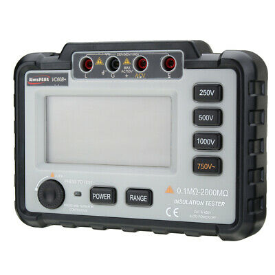 Digital Mini Insulation Resistance Tester MegOhm 250/500/1000V DC Backlight LCD
