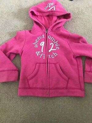 Girls Abercrombie And Fitch Hoodie Age 5-6
