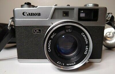 Canon Canonet QL17 Rangefinder Camera w/ Canon 40mm f/1.7,  Untested Sold As Is