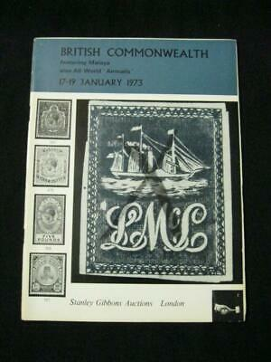 Stanley Gibbons Auction Catalogue 1973 British Commonwealth Featuring Malaya