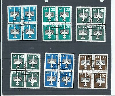 East Germany stamps. DDR Some of the 1982-1987 Airmail used CV £35+ (Z729)
