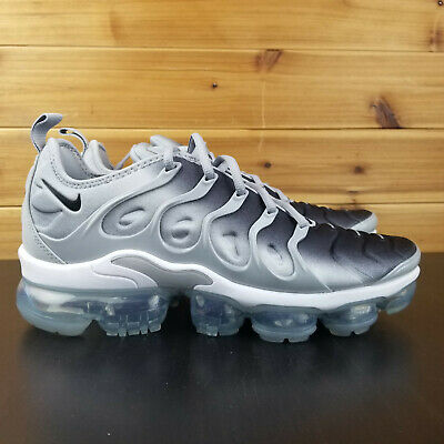 Nike Air VaporMax Plus Wolf Grey & Black & White Shoes Sz 10 // 924453 007