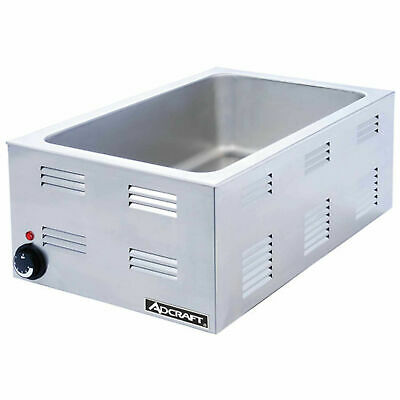 Adcraft FW-1500W Full Size Electric Countertop Commercial Food Warmer Steamer
