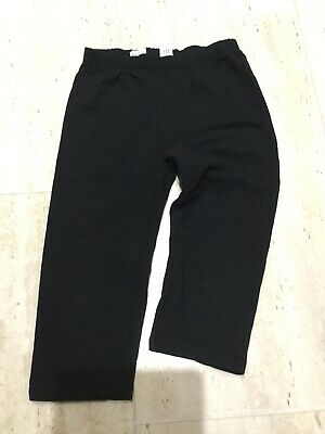 Gap Kids Girls Black Cropped Trousers Joggers - Age 8