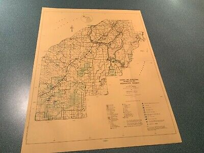 1974 North - Houghton County Michigan - DNR Highway & Recreation Information Map