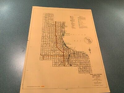Vintage: 1974 Bay County Michigan DNR Highway & Recreation Information Map
