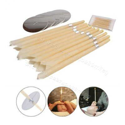 Hollow Ear Candling Candles Natural Bees Wax Excellent Cleaning Hearing Earwax