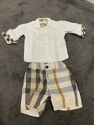 Burberry baby Shirt and Shorts  size 9M boys