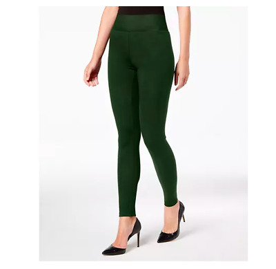 INC International Concepts Shaping Leggings Hunter Green Size XS $34.99 - NWT