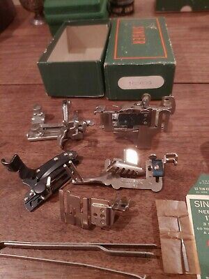 Vintage Singer 221 Featherweight Low Shank Sewing Machine Attachments 160809