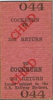 Railway tickets SAR Cockburn second class return unused