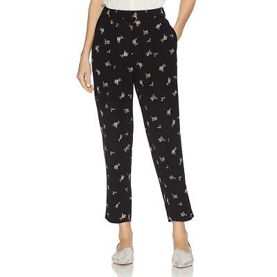 Vince Camuto Womens Black Printed Cropped Pull On Pants M BHFO 8898