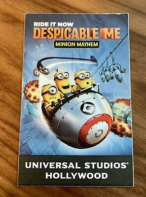 Universal Studios Hollywood Express Ticket - Despicable Me Minion Mayhem