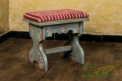 Voglauer Anno 1700 Antique Blue Country House Style Stool Solid Wood Footrest