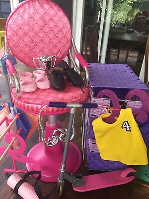 Our Generation Doll Clothes & Accessories (incl. scooter & hair dressing chair)
