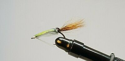3QTY MILKY CRAB YELLOW LEGS FLY FISHING FLIES  SIZE 6
