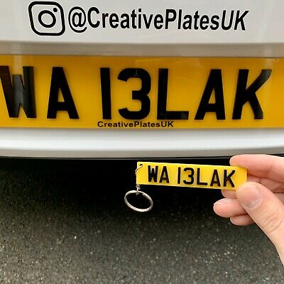 4D 3D Number Plate Acrylic Key Ring Custom Personalised UK Style Your Reg