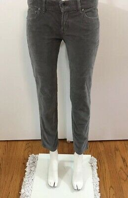 BENETTON Sz 44 womens gray pants corduroy trousers slacks casual cords new 3703