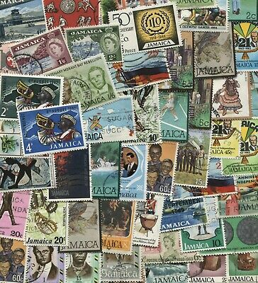Collection of 50 different stamps from Jamaica