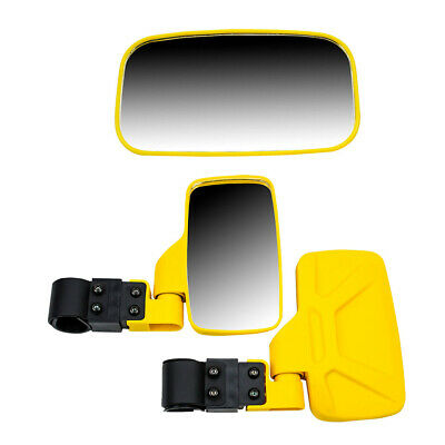 Yellow UTV Side & Rear View Mirror Kit for John Deere XUV 590 620i 625i 825
