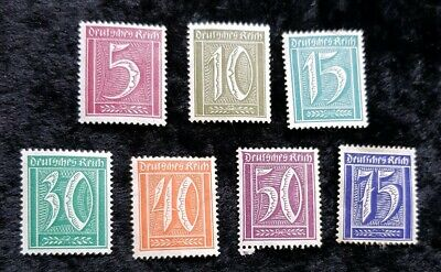Germany Reich stamps - Numerals Face Value  1922 see pics for grading
