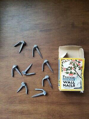 Vintage Francis Lead-Headed Wall Nails in antique box