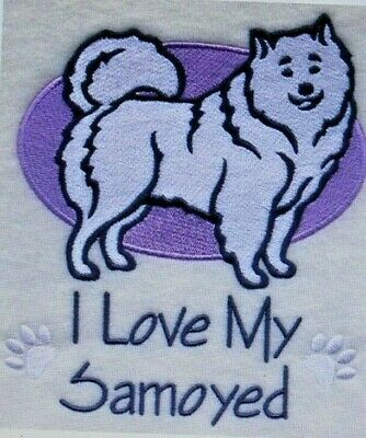 Love My Samoyed Dog Embroidered Personalized Tee Shirt ALL SIZES