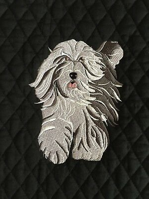 Bearded Collie Bathroom Set HAND TOWELS EMBROIDERED Personalized