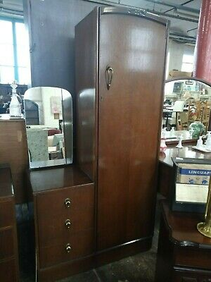 Art Nouveau single wardrobe & dresser