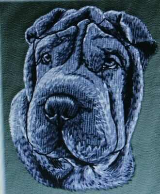 Shar Pei Dog Breed Bathroom SET OF 2 HAND TOWELS EMBROIDERED