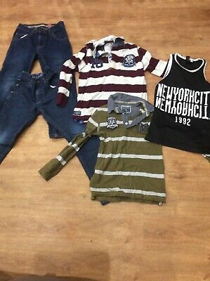 Boys Aged 8 Bundle Jeans Next And Rugby Style Top And Base Ball Vest
