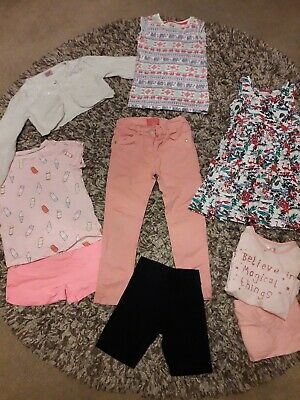 Girl's Age 4-5 Years Clothes Bundle Pjs Dress Pink Jeans Shorts Cardigan