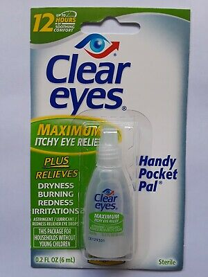 Clear Eyes Cool Comfort Itchy Eye Relief Drops,   0.2 fl oz (Pack of 2)