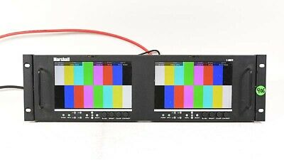 """Marshall V-MD72-3GSDI Dual 7"""" LCD Rack Monitor With 2x MD-3GE Modules #3"""
