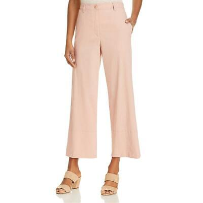 Theory Womens Fluid Pink Cropped Stretch Casual Ankle Pants 10 BHFO 6145