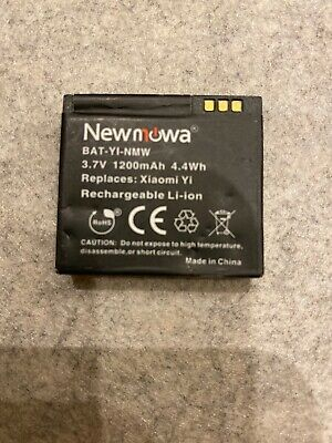 Newmowa 1200mAh Rechargeable Battery 2-Pack and Dual USB Charger for Xiaomi Yi