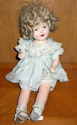"MISS CHARMING EEGEE Shirley Temple Vintage Ideal Composition Doll 21"" 1930s"