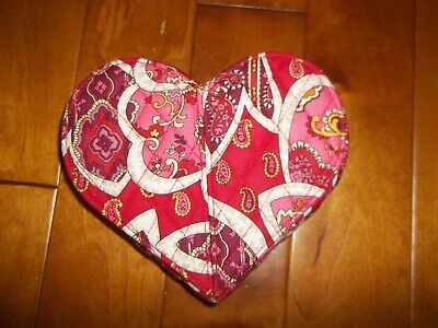 Vera Bradley From the Heart  Jewelry Box Case Organizer Reds and Pinks