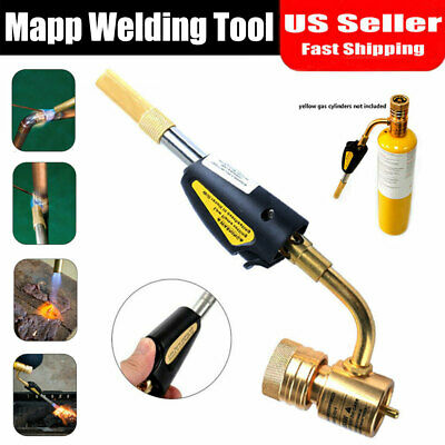 Gas Self Ignition Turbo Torch Brazing Soldering Propane Welding Plumbing Gun NEW